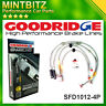 Ford Focus RS 2009-2010 Zinc Plated Goodridge Brake Hoses SFD1012-4P