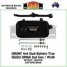 Grunt 4x4 Dual Battery Tray ISUZU DMAX 2nd Gen  M-UX MUX 2012-ON Diesel