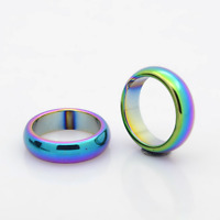 Electroplated Non-Magnetic Hematite Finger Ring 17mm Arthritic Pain & BP(J006A)
