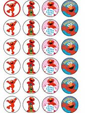 24 X ELMO PARTY BIRTHDAY RICE PAPER CAKE TOPPERS