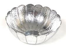 SALE Metallic Silver Colour Recycled Aluminium Bowl Dish Beautiful Ethical