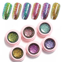 UR SUGAR Chameleon Holographic Glitter Soak Off UV Gel  Polish 5ml