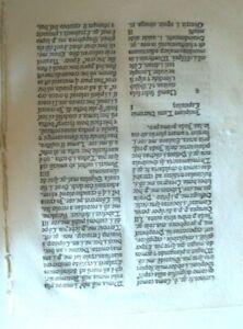 Incunabula Bible Commentary Leaf   Nicolas Jenson  1479