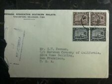 1940 Kalumpang Malaya Commercial Censored  Cover To San Francisco USA
