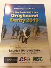 2019 Greyhound Derby Final Programme