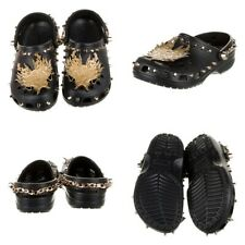 CROCS X VIVIENNE TAM Collab Clogs Shoes Black Gold Studded Chain NEW in Box!