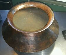 Ancient Collectable Antique Stunning Dovetail Oiled Copper Pot Makers Mark