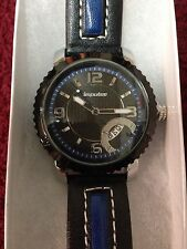 Impulse Steinhausen Men's Watch Black and Blue Face with Black and Blue Leather
