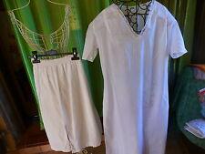 lot t36 chemise de nuit ancienne +jupon blanc