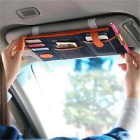 Car Sun Visor Storage Bags Holder CD Case tissue boxes Organizer Card Bag KV