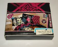 "2013 Monster High ""Scary Cute"" 3 piece Twin Sheet Set NEW with TAG"