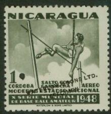 Nicaragua 1949 Vault 1cor World Series color sample-1