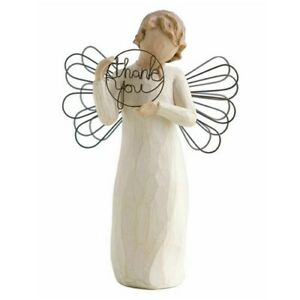 Willow Tree Just for You Figurine holding Thank you sign 26166