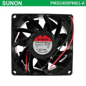 Original SUNON PMD2409PMB1-A (2).GN 9238 DC24V 12.2W 92mm*38mm 9CM Hikvision fan