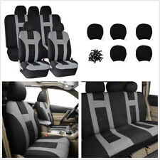 Durable 9PCS Single Mesh+2MM Gray Cotton Single Car Seat Cover Protector Cushion