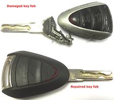 Repair service for Porsche 911 997 Boxster 987 Cayman remote key fob + new case