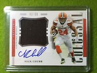 NICK CHUBB ROOKIE AUTO NATIONAL TREASURES AUTOGRAPH # /99 SP RPA 2018 BROWNS SSP
