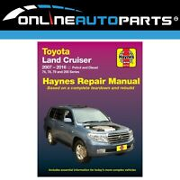 Haynes Car Repair Manual Book suits Landcruiser 76 78 79 200 Series 2UZFE 1VDFTV