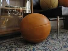 TRUE VINTAGE DDR MEDIZINBALL 70er Leder 4 kg GDR lether ball Taucha handgenäht