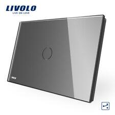 Livolo AU/US Standard 1Gang 2Way Power Touch Wall Light Switch Gray