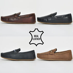 """Red Tape """"REAL LEATHER"""" Slip On Smart Casual Driving Shoes From £12.99 FREE P&P"""