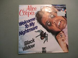 "ALICE COOPER - Welcome to my Nightmare / Black Widow 7"" 1975 Anchor German Cover"
