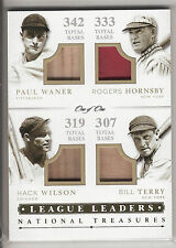 2014 NATIONAL TREASURES GU ROGERS HORNSBY BILL TERRY HACK WILSON PAUL WANER 1/1