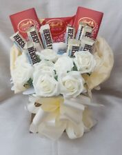 Luxury Lindt & Yankee Candles & Hersheys Chocolate Bouquet - Sweet Gift hamper