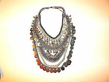 FREE PEOPLE NECKLACE DRAPE MULTI TIERS DANGLE ADORNMENT NEW #1084