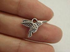 10 bird charm pendant tibetan silver antique style kingfisher wholesale FB12