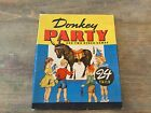 "Vintage Donkey Party ""Pin the Tail on the Donkey."" Game #3015-Whitman Publishing"