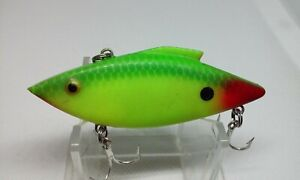 "Vintage Bill Lewis Rat-L-Trap Lime Green/Chartreuse 3"" Lipless Crankbait Lure"