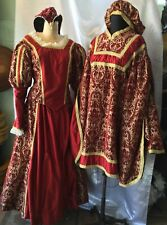 Renaissance Medieval Mardi Gras Couple Costume Dress