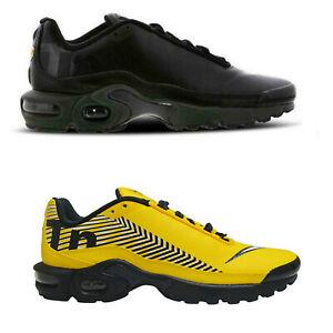 Original Nike Air Max Plus Tuned 1 TN SE BG Yellow Black  Trainers Sneakers