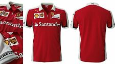 NWT Puma FERRARI F1 Official Men Team Racing Polo Shirt Logo Santander XL XLARGE