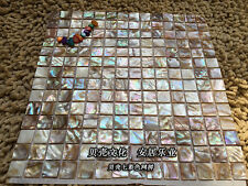 Hot Colorful Square Shell Mosaic Shower Tile Kitchen Backsplash Tiles Wall Floor