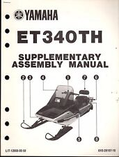 1984 YAMAHA ET340TH SNOWMOBILE SUPPLEMENT ASSEMBLY MANUAL LIT-12668-00-59  (412)