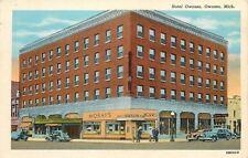 Owosso Michigan~Hotel Owosso~Morays Jewelry Store~Western Union 1936 PC