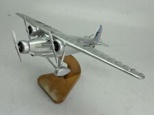 MB-120 Bloch France Bomber Airplane Mahogany Kiln Dry Wood Model  Small New
