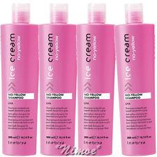 No-Yellow Shampoo 4 x 300ml Inebrya Ice Cream ®UVA Antigiallo Bleached Gray Hair