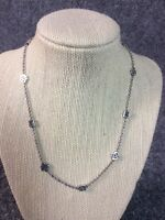 """Beautiful Lois Hill Bali Indonesia sterling Silver  925 Beads necklace 17 1/2"""""""