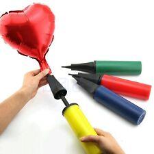 Portable Hand Held Dual Action Plastic Balloon Air Pump Inflator Color Random MA