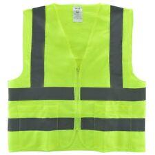 2 bolsillos de malla sólido de alta visibilidad chaleco de seguridad, ANSI/ISEA 107-2010 - (539)