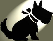 Scottie Scotty Dog Stencil Shabby Chic Rustico MYLAR stile A4 297x210mm Design 1
