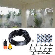 20m 66ft Outdoor Garden Misting Cooling System 20 Plastic Mist Nozzle Sprinkler