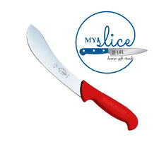 """F Dick 6"""" Red Curved Skinning Knife, NEW! Butcher, Hunting, Meat"""