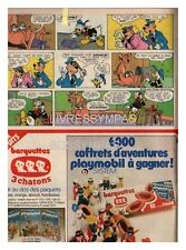 1978 DOCUMENT  (ref Cim  AL081)  PUB b  :  BISCUIT 3 CHATONS PLAYMOBIL   1/2page