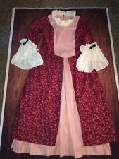 2 Pc Reenactment Dress Handmade Colonial Victorian Size L