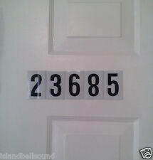 Numbers  Reflective Decal sticker Mailbox, Boat, Truck (set of 5 numbers)