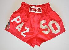 "Vinny ""Paz"" Pazienza Boxing Fight Worn Trunks 50th Win Final Fight Paz Loa"